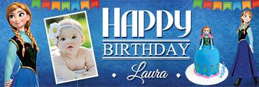 Princess Anna themed Customized Birthday Banner