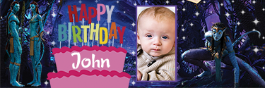 Neytiri Character Avatar Themed Custom Photo Birthday Banner
