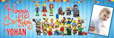 Lego Gang Personalised Photo Happy Birthday Banner
