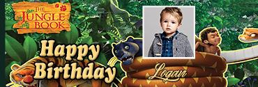 Bagheera Inspired Jungle Book Custom Photo Birthday Banner
