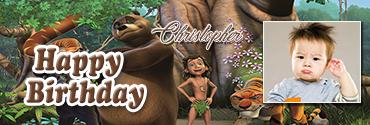 Baloo Inspired Jungle Book Personalised Birthday Banner