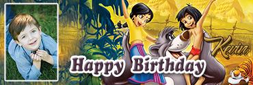 Mowgli Inspired Jungle Book Custom Birthday Banner