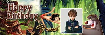 Jungle Book Theme Personalised Photo Birthday Banner