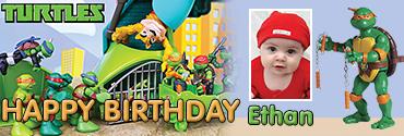 Raphael & Michelangelo Themed Custom Birthday Banner