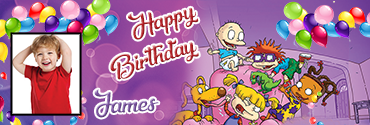 Rugrats Series inspired personalised photo birthday banner for you
