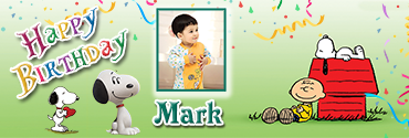 Snoopy Theme Lovely Personalised Happy Birthday Banner for you