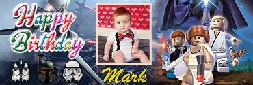 Lego Inspired Star Wars Theme Birthday Banner for your little boy