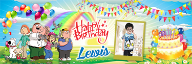 Custom Birthday banner with Candles and balloons.