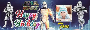 Clone Trooper inspired Star Wars Birthday Banner