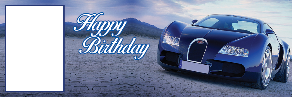 Red Sports Cars Veyron Birthday Banner Personalized Party Backdrop