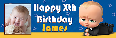 The Boss Baby Theme Birthday Banners Archives Custom Birthday Banners